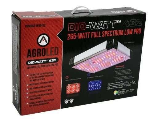 AgroLED Dio-Watt 432, 265W Full Spectrum Low Pro box
