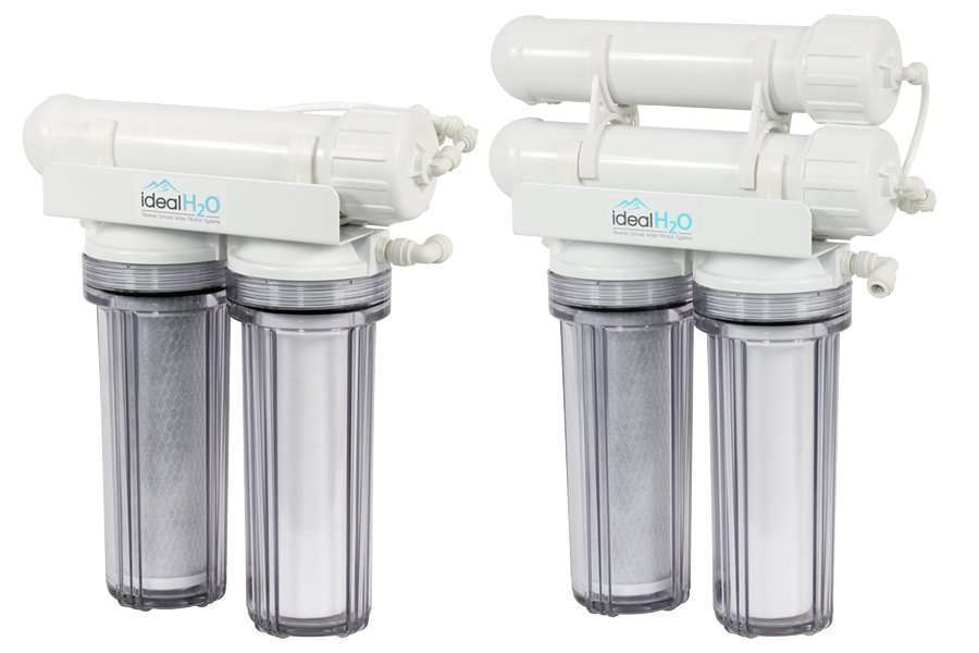 Ideal H2O Classic 3 Stage Reverse Osmosis System w: Coconut Carbon Pre Filter - 100 & 200 gallon per day