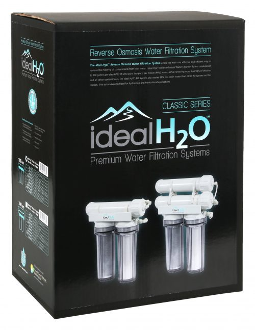 Ideal H2O Classic 3 Stage Reverse Osmosis System w: Coconut Carbon Pre Filter - 100 & 200 gallon per day box