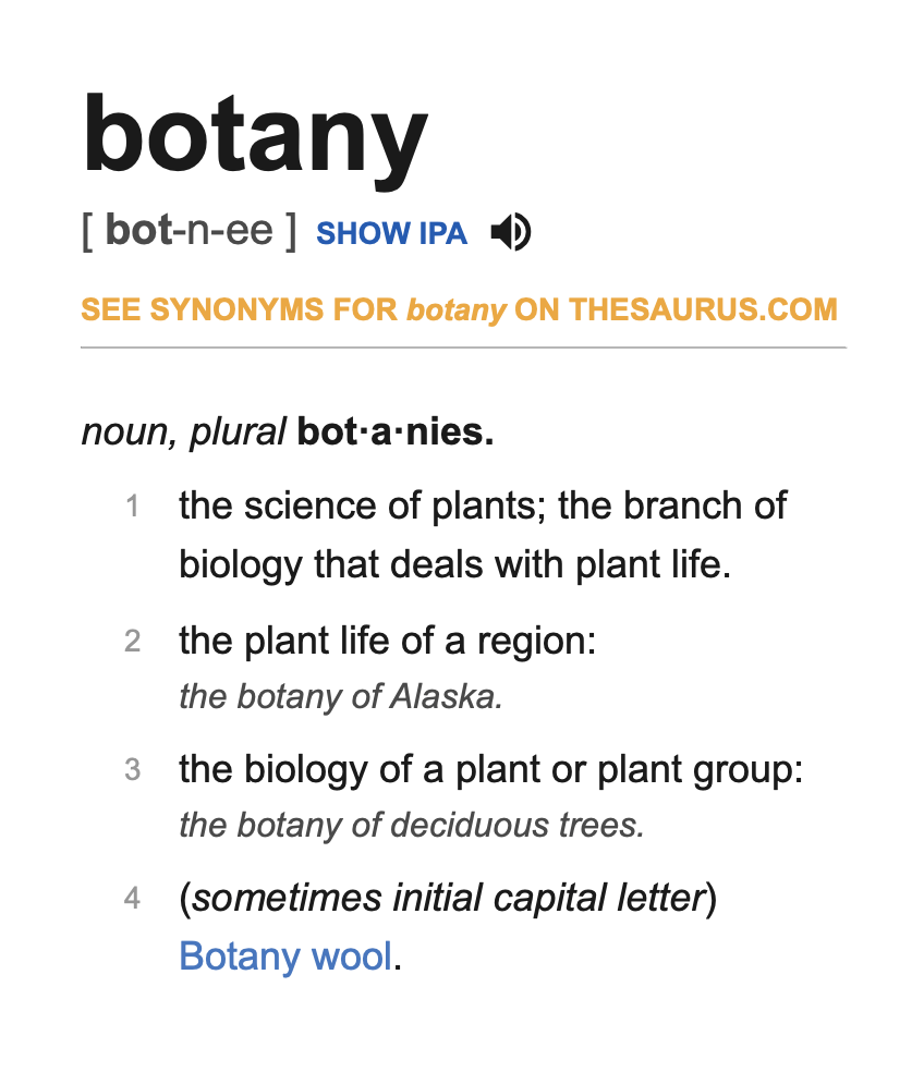 guide of Botanical terms