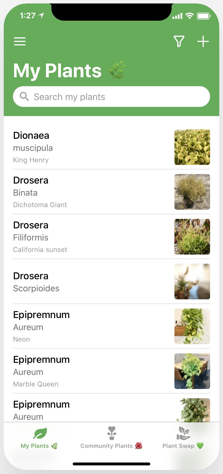 PlantBuddy homepage